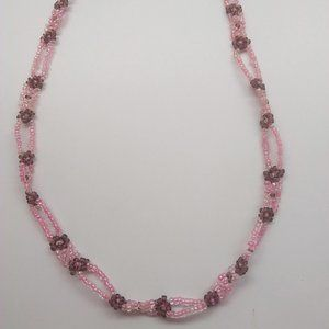 Jewelry - Pink and Brown Bead Necklace